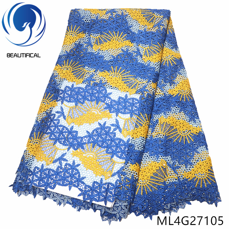 BEAUTIFICAL african fabrics cord guipure lace with stones 5yards embroidery beads water soluble lace fabric for women ML4G271BEAUTIFICAL african fabrics cord guipure lace with stones 5yards embroidery beads water soluble lace fabric for women ML4G271