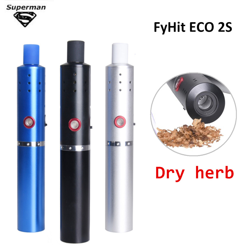 Hot! Original FyHit ECO 2S Dry Herb Vaporizer 2200mah Ceramic Core Temperature Control Airflow Vape Pen Herbal E Cigarette Kit original herbstick relax dry herb vaporizer 2200mah mod temperature control deluxe herbal vape kit electronic cigarette vape pen