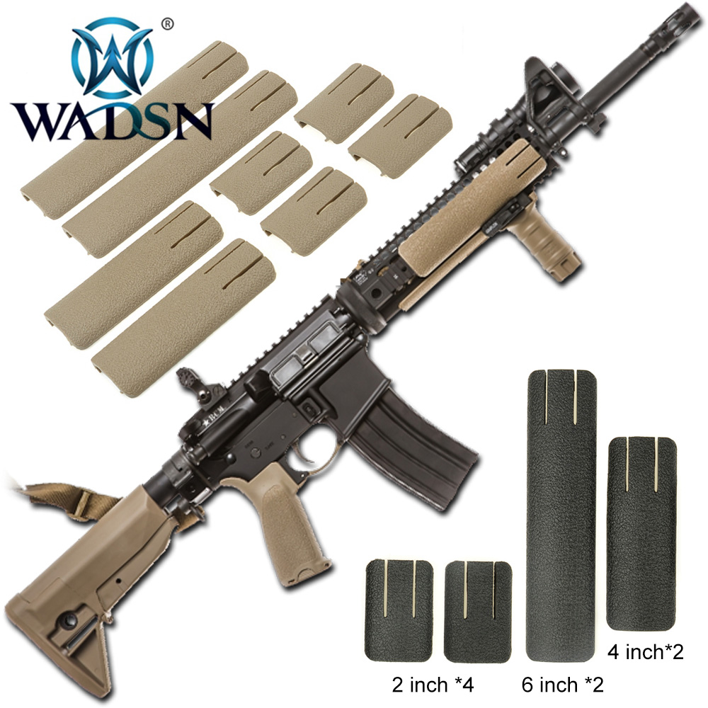 WADSN Airsoft RIS Picatiny Weaver Rail Cover TD SCAR Panel Deluxe Version Tactical Accessory 8Pcs/set Handguard Rail Cover EX339