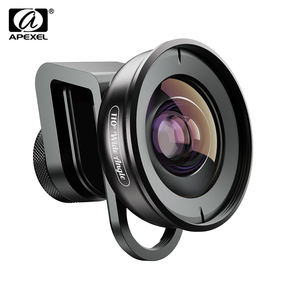 APEXEL HD Cámara teléfono lente Kit 110 grados 4K lente gran angular con CPL filtro estrella para iPhonex Samsung s9 todo smartphone