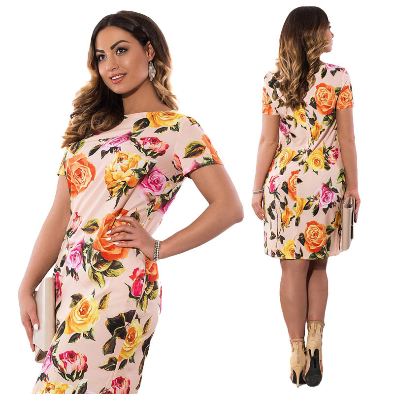 HTB15NbSXhvEK1JjSZFPq6zWYpXaN 2019 Autumn Plus Size Dress Europe Female Fashion Printing Large Sizes Pencil Midi Dress Women's Big Size Clothing 6XL Vestidos