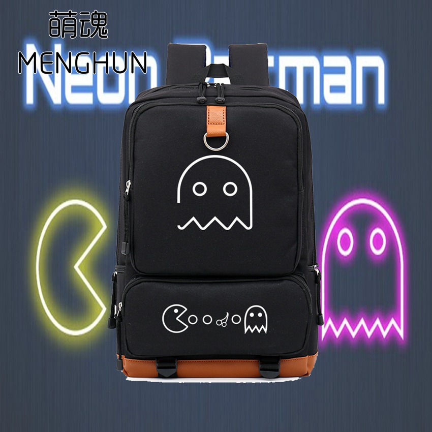 PAC MAN lovely game fans backpack PAC MAN inspired durable backpack gift for retro game fans retro game console bag NB121