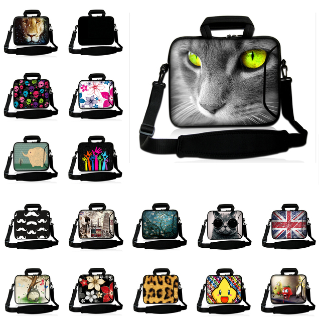 새로운 16 16.8 17 17.4 인치 노트북 가방 슬리브 케이스 w. 사이드 포켓 어깨 스트랩 패션 컴퓨터 지퍼 메신저 가방