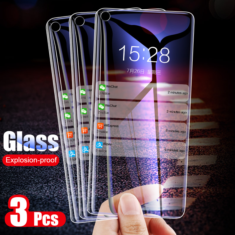 Moopok 3Pcs Screen Protector Tempered Glass For Samsung A90 A70 A60 A50 Glass For Samsung M10 M20 M30 A40 A30 A20 A20E A10 Film