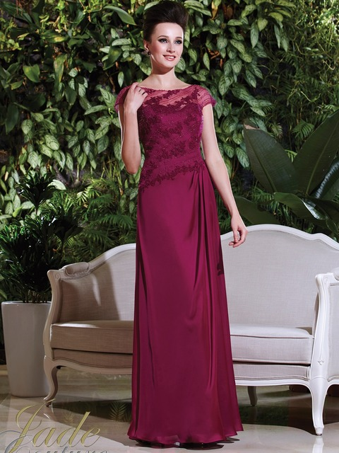 7faae02ad51 Glamorous Claret Mother Of The Bride Dresses with Beading Long Chiffon  Formal Gown For Wedding Party Vestido Mae Da Noiva XMD98