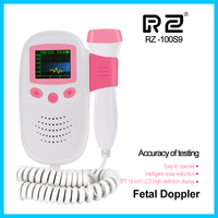 RZ Doppler fetal heart rate monitor pocket Fetal Doppler ultrasound RZ 100S9 ultrasonido doppler fetal heartbeat
