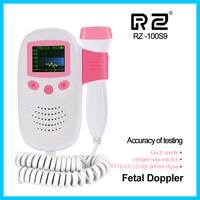 RZ Doppler fetal heart rate monitor pocket Fetal Doppler ultrasound RZ 100S9 ultrasonido doppler fetal heartbeat