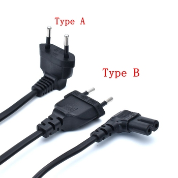 300cm Figure 8 AC power cord Schuko CEE7/16 EU type right angled to IEC C7 Power lead cable for samsung Philips Sony LED TV