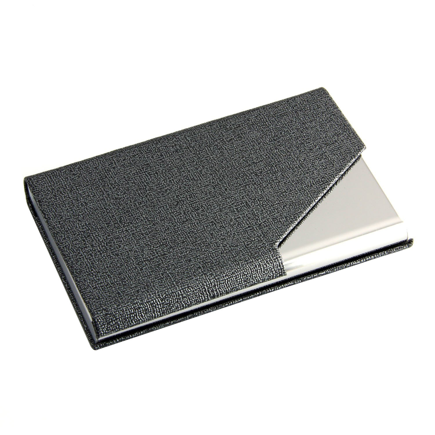 Business Name Card Holder Luxury PU Leather ,Wallet Credit card ID Case Keep Your Business Cards Clean, with Magnetic Shut(Gray)