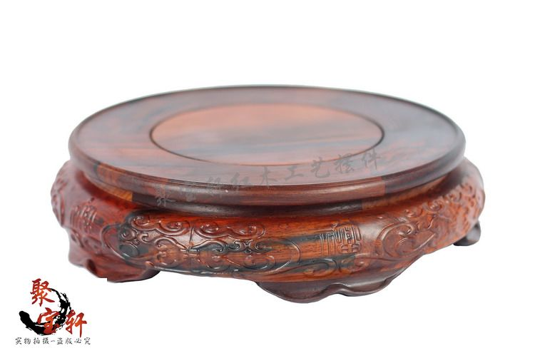 rosewood carving rosewood base of Buddha carving handicraft stone furnishing articles household act the role ofing is tasted precise restoration of the palace museum collection chinese classical furniture burma rosewood incense stand carving handicraft