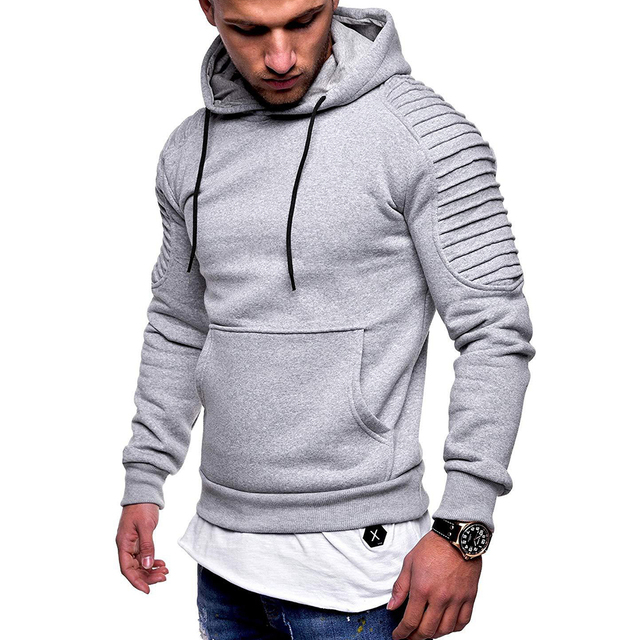 eb3aaa45ce1 Plus Size Men Hoodies Fashion Solid Color Hooded Sweatshirt Top 2019 Spring  Autumn Hoody Jasket Male Hip Hop Pullover Streetwear