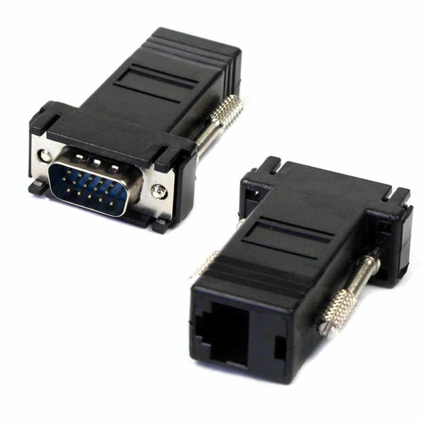 מתקדם 2018 מחשב מתאם מיקרו USB החדש VGA Extender זכר לlan Cat5 Cat5e RJ45 Ethernet נקבה מתאם