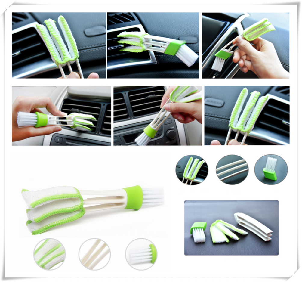 2PCS Car Air Conditioner Vent Outlet Cleaning Brush SLIT Cleaner Duster Brush for Honda Crosstour CR-Z S C EV-Ster AC-X HSV-010(China)