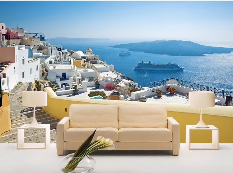 3d wallpaper custom mural non woven wall stickerrThe Greek Aegean