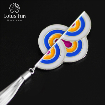 Lotus Fun Real 925 Sterling Silver Handmade Fine Jewelry Fashion Rosy Clouds Design Pendant without Chain Acessorios for Women