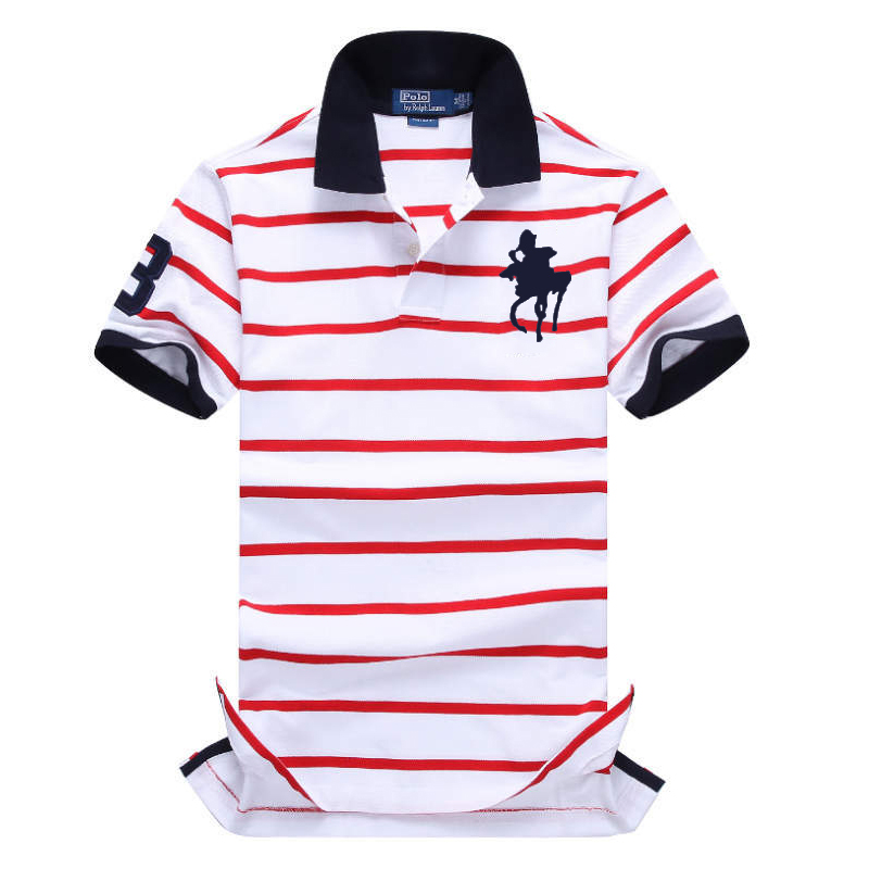 New   Polo   Shirt famous Brands 2019 Men Short Sleeve Fashion Casual Slim Big horse logo Embroidery Men   Polos