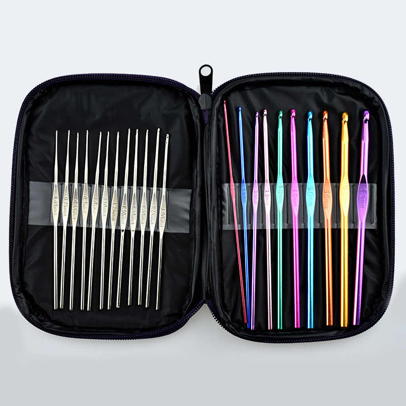 22pcs Metal Crochet Weaving Pins Set of Knitting Needles for Sale Knit Set Sweater Gloves Needlework Sewing Tools