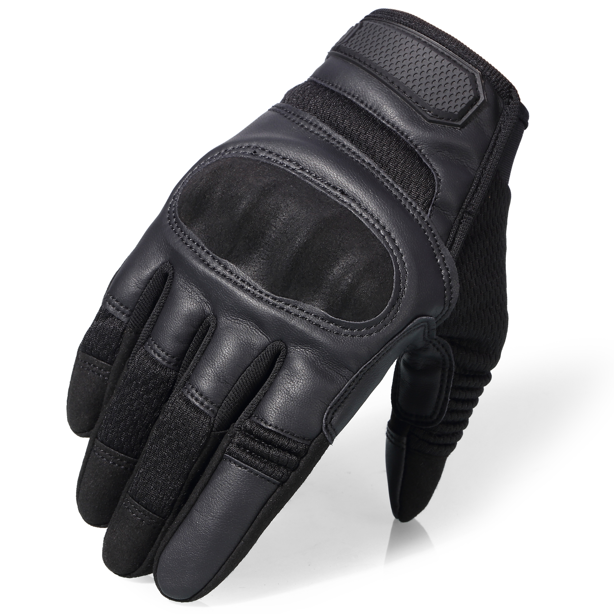 HTB15NcoKhWYBuNjy1zkq6xGGpXaX Touchscreen Leather Motorcycle Skidproof Hard Knuckle Full Finger Gloves Protective Gear for Outdoor Sports Racing Motocross ATV