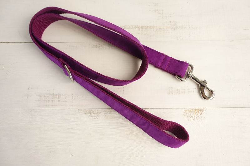 10pcs/lot MUTTCO wholesale creative design poly satin and nylon dog leash THE CANDY PURPLE 5 sizes colorful dog leashes UDL029
