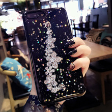Glaring sparkle Shining Diamond flower chain bracelet bling epoxy phone case for Huawei p8 p9 p10 p20 mate 10 lite 2017 y6 2018