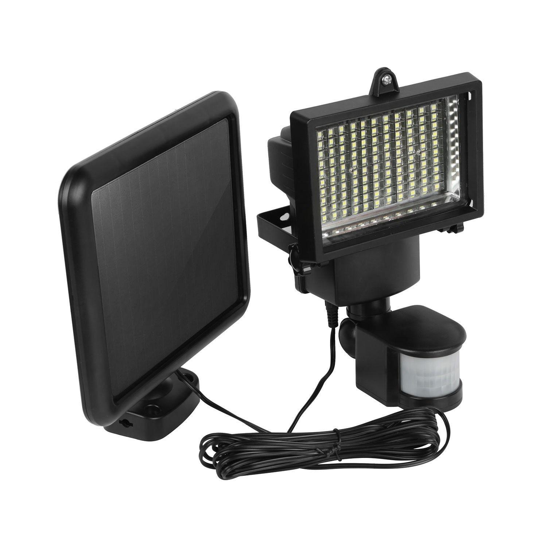 NEW 100 LED Solar Panel Sensor Light Outdoor Security Floodlights Garden Motion HOT Building Automation ds 360 solar sensor led light black