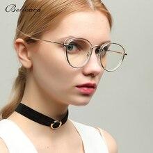 Bellcaca Spectacle Frame Women Round Myopia Eyeglasses Computer Optical Clear Lens Vintage Eye Glasses For Female BC362