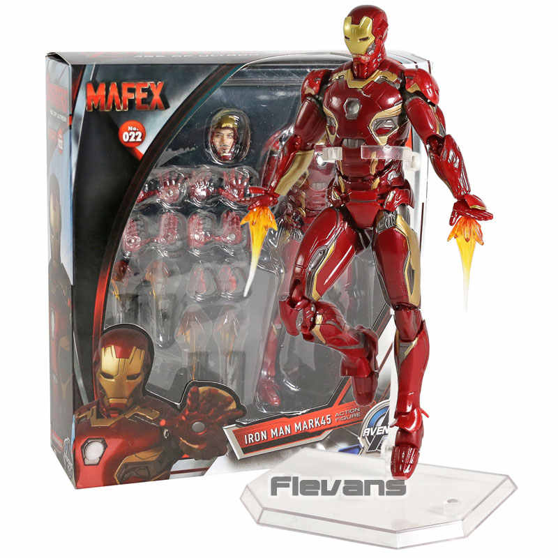 Mafex No. 022 Vingadores Da Marvel Homem De Ferro Mark MK 45 PVC Action Figure Collectible Modelo Toy