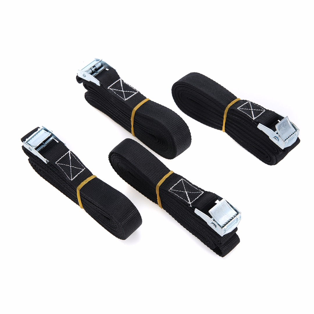 Durable 4pcs/set Heavy Duty Goods Strong Belt Strap Cargo Lashing Strong Ratchet Belt Mayitr New Arrival