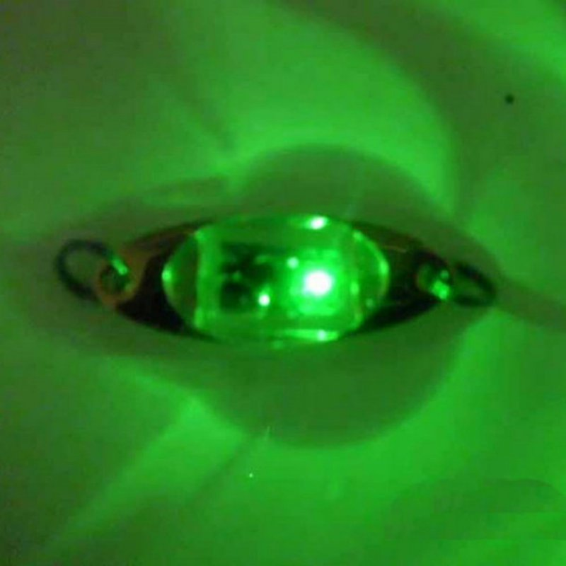 6cm/2.4 Inch Led Underwater Fishing Bait Colorful Boat Shaped Trap Squid Deep Drop Fish Lure Light Flash Lamp Pesca Calamar