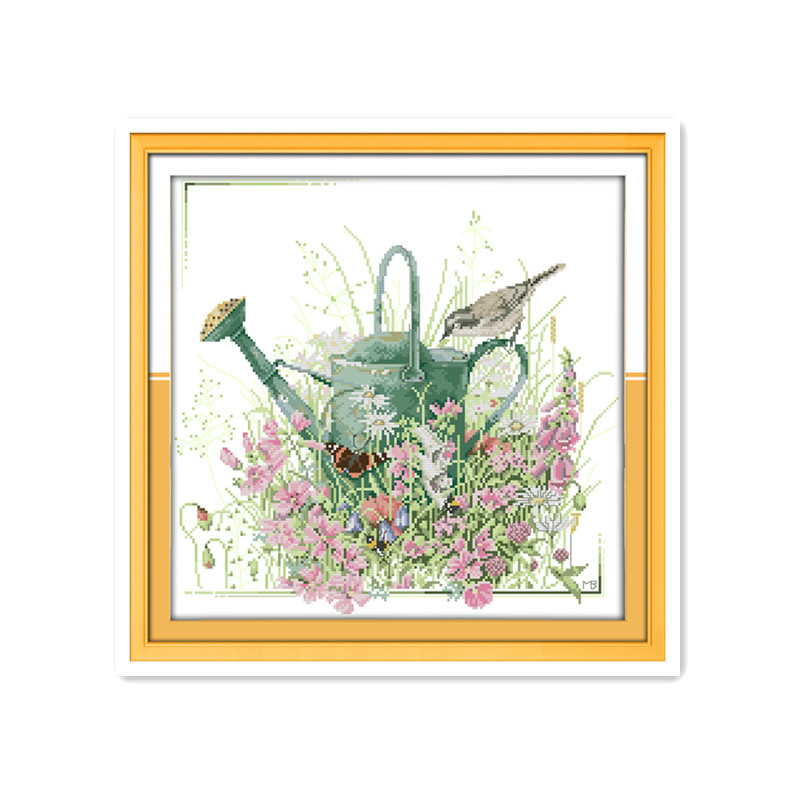 Радость воскресенье цветы птица 11CT Индии вышивки крестом комплект Птицы садоводство сад diy мебель декоративные аксессуары ремесла висит