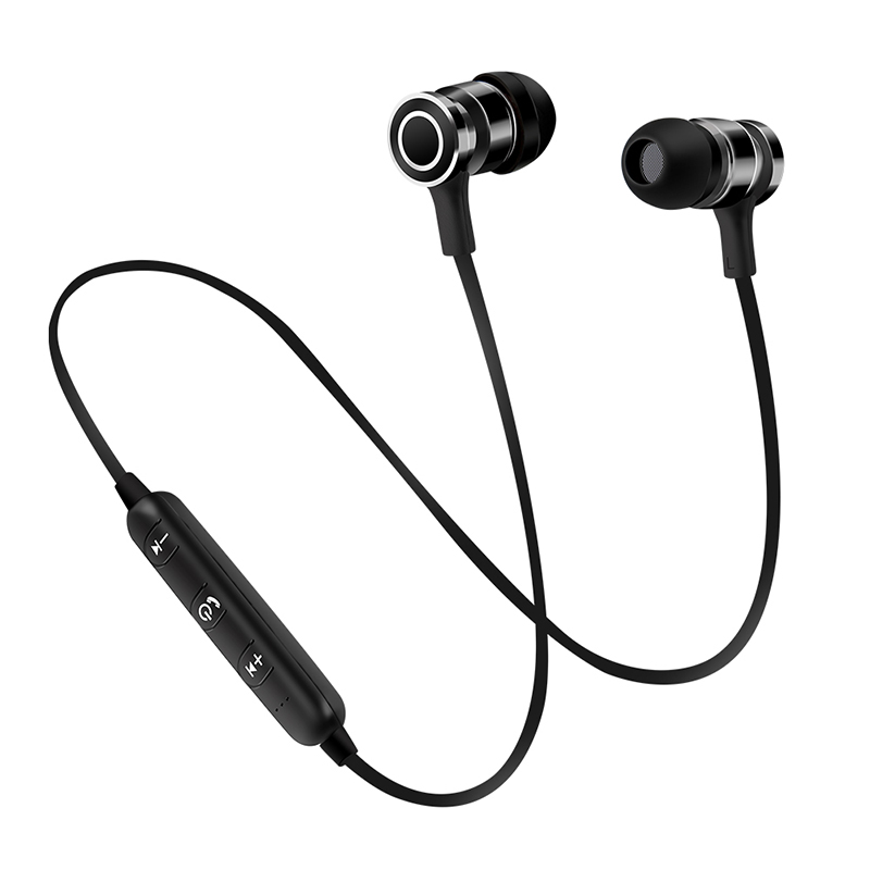 Portable Wireless Bluetooth Earphone Mini Earbuds Stereo Bass Magnet Music Handsfree Headphone for smartphone hlton portable wireless bluetooth earphone handsfree mini headset stereo earbuds car fast charger with mic for smartphone pc
