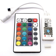 WiFi LED RGB Controller Mini 24Keys IR RGBW DC 5V 12V 24V Wireless Remote 5 V 12 24 Volt strip