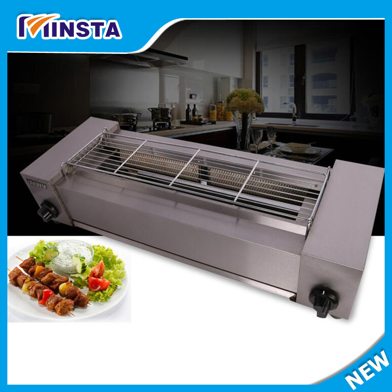 2018 commercial use liquefied petroleum gas infrared barbecue grill sc 05 burner infrared barbecue somkeless barbecue grill bbq gas infrared girll machine stainless steel smokeless barbecue pits
