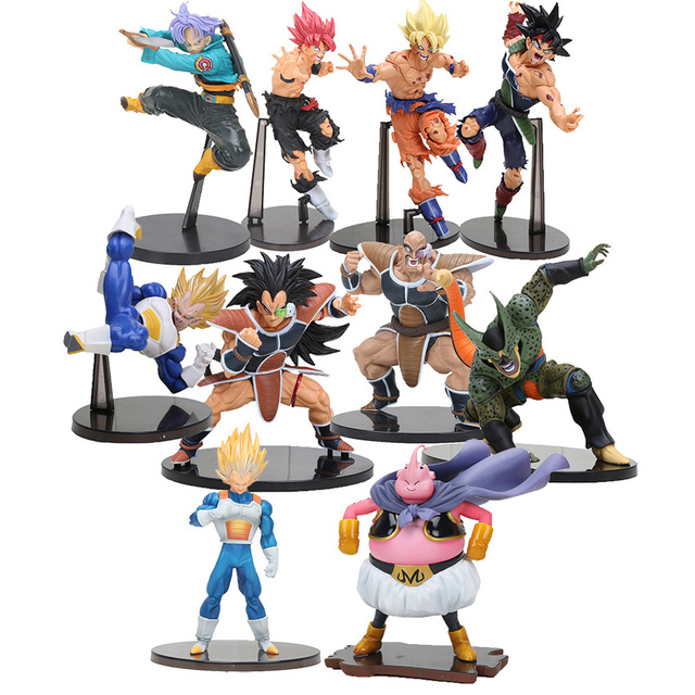 Brinquedos SCultures Dragonball Dragon Ball Z action figure toys Ressurreição De F Estilo Deus Super Saiyajin Goku vegeta celular