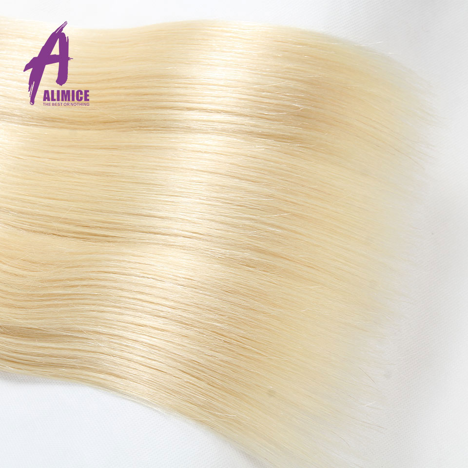 Alimice Hair Ombre Peruvian Straight Hair Weaves 4 Bundles T1b/613 Ombre Human Hair Bundles Dark Root 100% Remy Hair Extensions