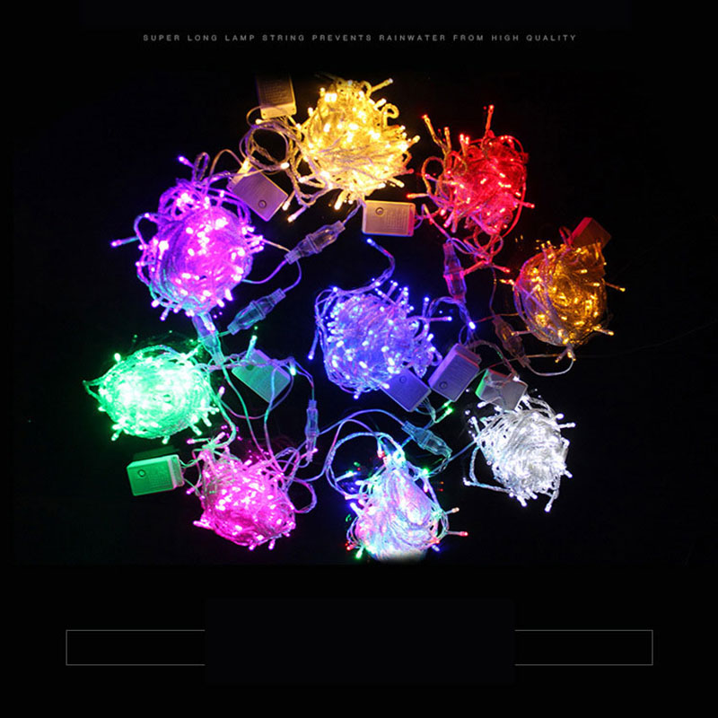 LED String Light 10m 100leds Waterproof 220V holiday String lighting Christmas Festival Party Outdoor Decoration