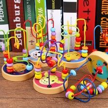 Новинка, разные цвета, деревянные Мини Маленькие Круглые шарики, строительные блоки, Игрушки для раннего развития, Обучающие Игрушки для раннего развития