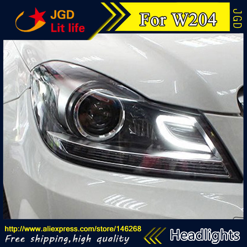 Free shipping ! Car styling LED HID Rio LED headlights Head Lamp case for Benz W204 2011-2013 Bi-Xenon Lens low beam auto clud style led head lamp for benz w163 ml320 ml280 ml350 ml430 led headlights signal led drl hid bi xenon lens low beam
