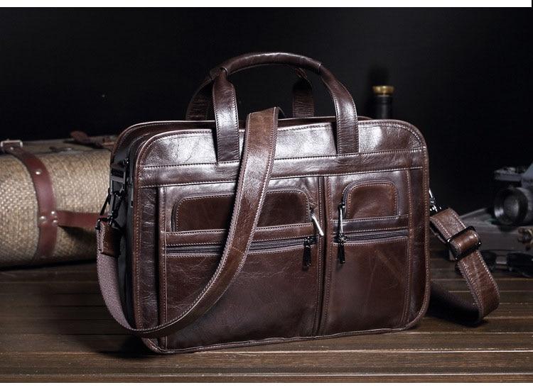 GOOG.YU Retro oil leather men Genuine Leather bag large capacity briefcase Laptop duffle bag Business famous designer handbags