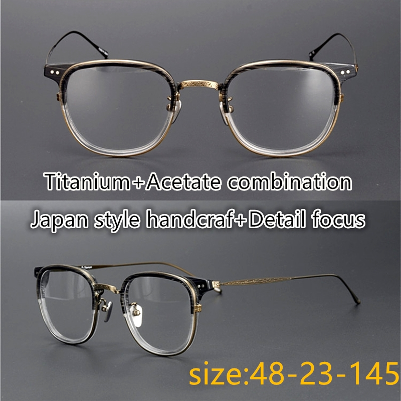 Limited edition Vintage eyeglass frame pure titanium Ultralight 543 classical square eyewear women men unisex original
