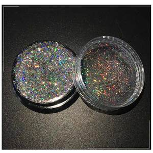 Image 2 - Tırnak sanat Glitter lazer gevreği 0.2g Shining Sequins holografik toz toz ayna etkisi tırnak Glitter 3D çivi Glitter gevreği