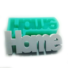 silicone molds Cement Concrete Decoration H-o-m-e  alphabet Handmade Mold Silicone Mould aroma stone moulds