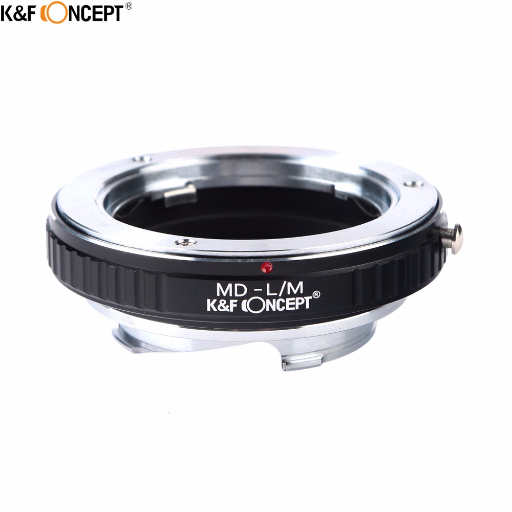 K&F CONCEPT Camera Lens Adapter Ring for Minolta MD SR Mount Lens to for Leica M mount L/M Camera Body fotga md eosm minolta md mc lens to canon m mount adapter black silver