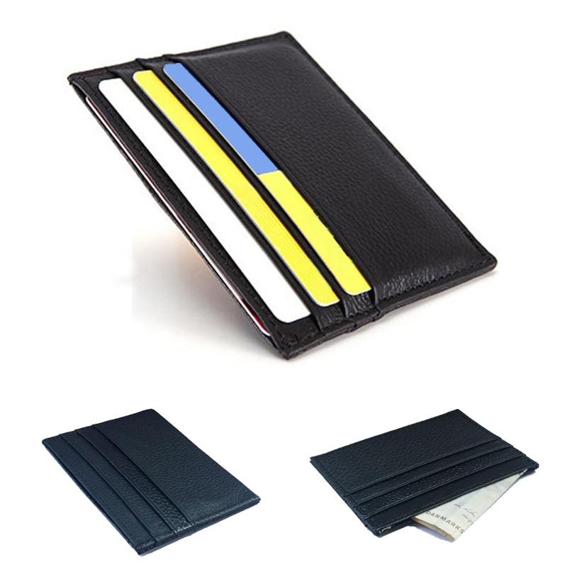 Genuine Leather Credit Card Holder Card Case Card & ID Holders Men ...