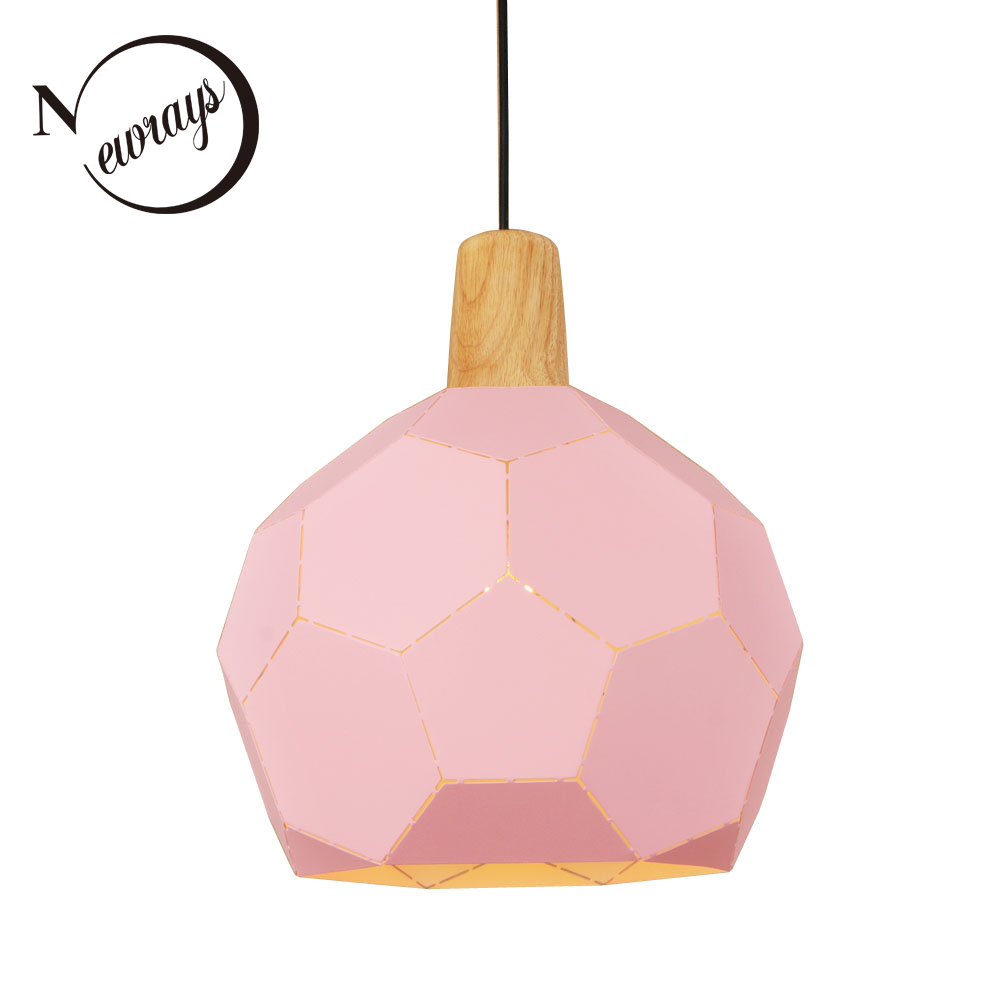simple modern pendant light led e27 loft country wooden hanging lamp with 11 colors for home dining room restaurant parlor cafe Loft country iron wood pendant light LED E27 modern simple hanging lamp with 3 colors for bedroom shop dining room cafe office