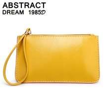 Women bags Candy 5 color wallet Ladies phone envelope Hand bag women's handbags High-quality tote PU leather yellow clutch 2019(China)