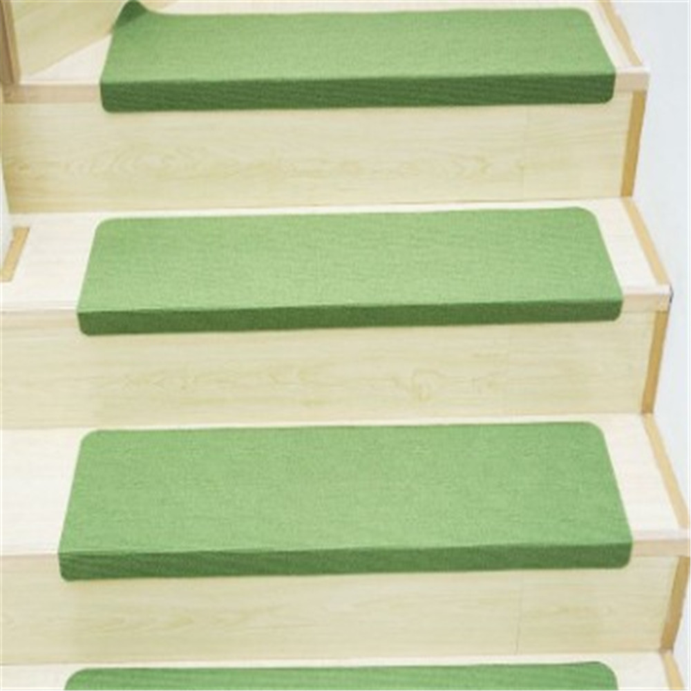 Luminous Visual Stair Pads Anti-slip Noise insulation Floor Area Rug Carpets Green Latex Stairs Decor Warm Stairs Mat Carpets