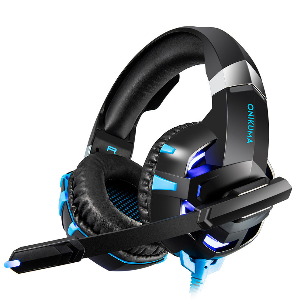 ONIKUMA K2 7.1 Surround Sound USB Gaming Headset Casque Wired PS4Xbox One Headphoes with Microphone Volume Control for Computer (6)
