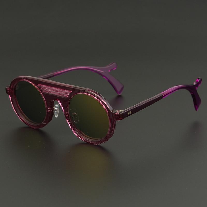 Und Sonnenbrille Essigsäure Trendy Hohe Qualität Runde M1858 SvEwxqpw5