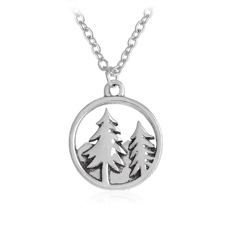 Minimalist Pine Tree: 1 Pc Pop Snowy Mountain Trees Forest Pine Tree Pendant